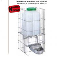 Foto de Bebedero para Perros P-3 de Aluminio con Depósito