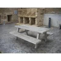 mesa y bancos de hormigon tipo picnic