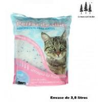 Foto de Perlas de Sílice Sandimas 3,8L para Gatos Absorbente Natural, Seguro, No Toxico
