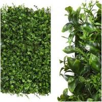 Foto de Placa Planta Vegetal Hojas y Brotes Artificial. Realista Decorativa. 60 X 40 Cm.