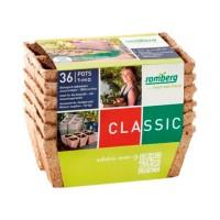 Foto de 6 Bandejas con 36 Macetas de Fibra de Coco Biodegradable. 100% Eco