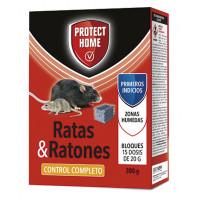 Foto de Protect Home Raticida en Bloques Ratas, Ratones y Roedores - Caja Completa 24 Estuches X 300 Gr
