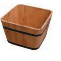 macetero de madera cuadrado