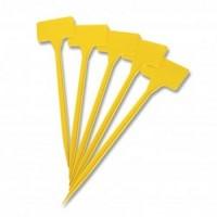 Foto de x10 Etiquetas Amarillas Identificación de Plantas. 30 Cm
