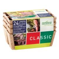 Foto de 4 Bandejas con 24 Macetas de Fibra de Coco Biodegradable. 100% Eco