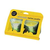 Foto de Vela Antimosquitos en Cubo Metálico 9 Cm con Citronella Flower 2 Unidades
