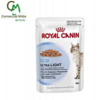 Foto de sobre 85g Royal Canin Ultra Light (Salsa)Para Gatos Adultos con Tendencia al Sobrepeso