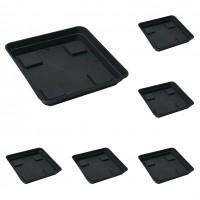 Foto de x6 Platos Bandeja Cuadrados para Macetas. 20 X 20 Cm. 10 Unidades