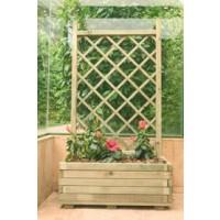 Jardinera rectangular con celosia macetas y jardineras 3092088 agroterra - Celosia con jardinera ...