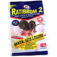Foto de Cebo Fresco 1 Kg Raticida Ratibrom 2 Veneno Ratas Ratones Resiste Calor Humedad