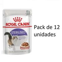 Foto de sobre 85g Royal Canin Sterilised 12 Sobres para Gatos Adultos Esterilizados(Salsa)