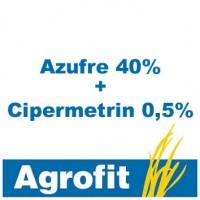 Foto de Azufre 40% + Cipermetrin 0,5%, Insecticida Agrofit