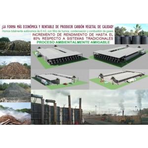 Foto de Hornos de Carbonización Artesanal E Industrial para Fabricar Biochar y Carbón Vegetal.