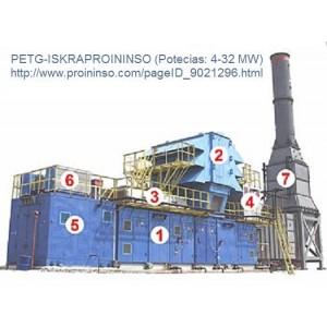 Foto de Plantas Eléctricas de Turbinas a Gas. Energía Más Limpia para un Desarrollo Más Sostenible.