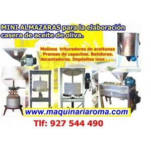 Foto de Almazaras, Mini Almazaras, Pequeños Molinos de Aceite, Aceitunas, Oliva