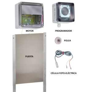Foto de Kit Puerta Automática para Gallinero 33X22 Cm