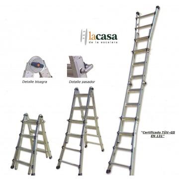 Escalera telescopica profesional aluminio 4x4 la casa de for La casa de las escaleras de aluminio