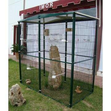 Voladero de jardin 2m 2x1 jaulas para aves 3100774 for Pajarera jardin
