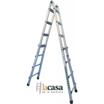 Escalera telescopica profesional aluminio 4x6 la casa de for La casa de las escaleras de aluminio