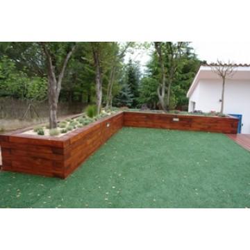 Jardineras de madera macetas y jardineras 20995 agroterra - Imagenes de jardineras ...