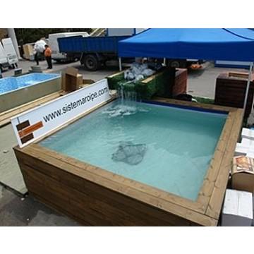 Piscina elevada de madera piscinas 20994 agroterra for Piscina madera pequena