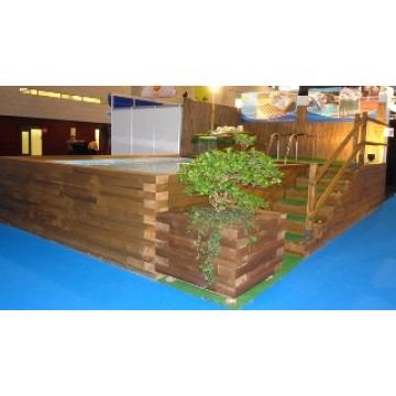 Piscina elevada de madera piscinas 20994 agroterra for Madera para piscinas