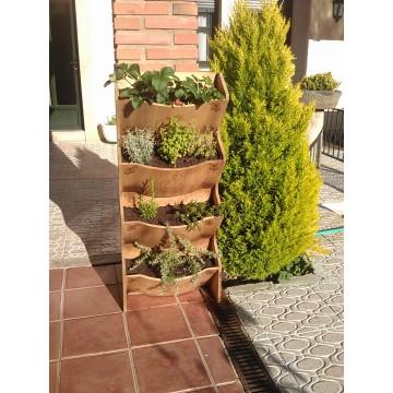 Huerto vertical en madera mesas y m dulos de cultivo - Huerto urbano malaga ...