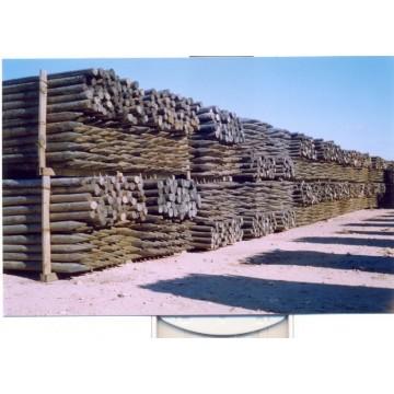 Postes de madera vallados y uso agr cola y forestal 3 m - Vallados de madera ...