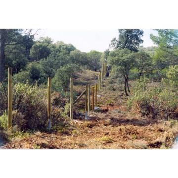 Postes de madera vallados y uso agr cola y forestal 2 5 m - Vallados de madera ...