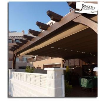 Pergolas porches estructuras para jardin o terraza for Estructuras de jardin