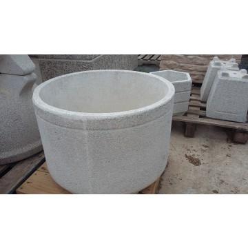 Cilindro granito blanco 71x50 macetas y jardineras for Granito blanco real