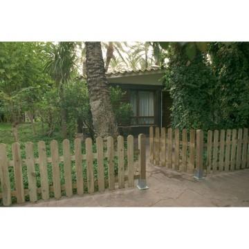 Valla cl sica de madera 100 x 210 cm vallas y verjas for Vallas de jardin ikea
