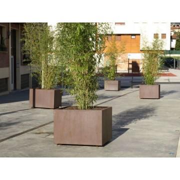 Jardineras de acero corten fabricadas en espa a casas - Jardineras acero corten ...