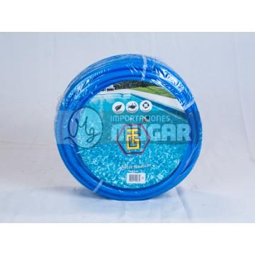 50 m manguera jard n aquagarden tricotada azul 12bar 15mm for Jardin azul canal 9