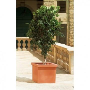 Maceta cuadrada siepi de 47x47x41 cm color terracota macetas y jardineras 3115205 agroterra - Jardineras de terracota ...