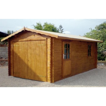 Garaje de madera a 40 mm 320x595 casetas y carpas - Garaje de madera ...