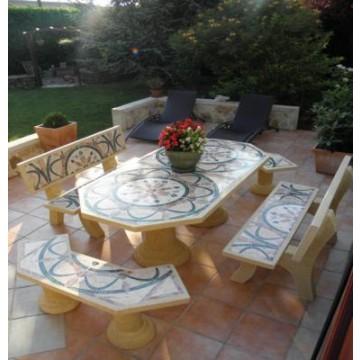 ms imgenes de mesa jardin octogonal cm y bancos mod