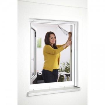 Kit 2 telas mosquiteras para ventana color blanco for Velcro para mosquitera
