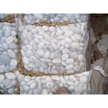 Saco 25 kg bolos de rio blancos 20 40 arena y piedras for Grava blanca decorativa