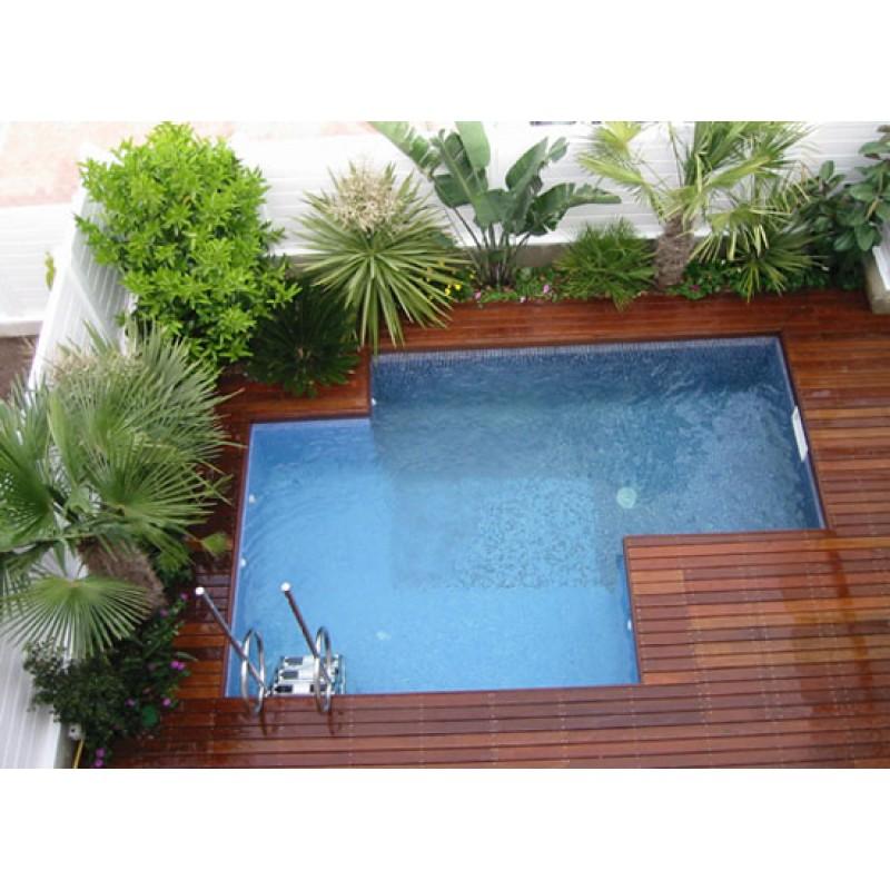 Decoracion de patios con piscina affordable piscinas de for Decoracion paredes exteriores patios