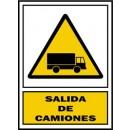 Placa Señalizacion S. Mataró. Peligro Salida...