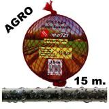 Manguera de Riego Exudante Poritex 15m por Gravedad (Malla Roja)