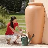 Deposito de Agua de Lluvia Anfora Ajustable a Pared Terracota 350L