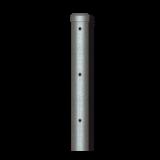 Poste Visera Recta Galvanizado para Alambre de Espino 1,85 Altura