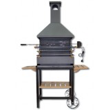 Barbacoa Chimenea con Ruedas Kit Pollo