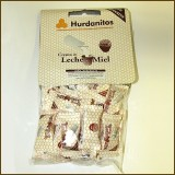 Bolsa con Solapa Hurdanitos de Crema,leche y Miel Sin Azucar 100 Gramos.