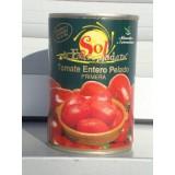 Tomate Entero Pelado Primera 1/2 Kg Lata. Caja 24 Unidades