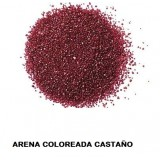 Arena Silice Coloreada. Color Castaño 25 Kg