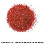 ARENA Silice Coloreada Naranja Sangre 25 Kg