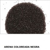 ARENA Silice Coloreada NEGRA 25 Kg